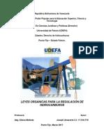 Leyes Orgánicas Para La Regulación de Hidrocarburos