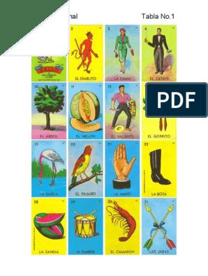 graphic regarding Printable Loteria Mexicana named Lotería Mexicana.pdf