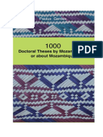 1000 Doctoral Theses by Mozambicans or About Mozambique