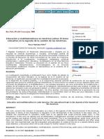 Educación y Multilateralismo en América Latina_ El Tema Educativo en La Agenda de La Cumbre de Las Américas