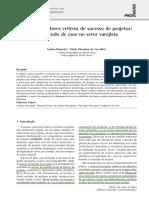 Case - Análise de Fatores Críticos de Sucesso de Projetos