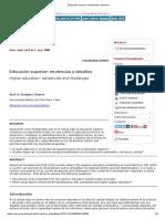 Educación Superior_ Tendencias y Desafíos