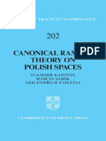 (Cambridge Tracts in Mathematics) Kanovei v., Sabok M., Zapletal J.-canonical Ramsey Theory on Polish Spaces-Cambridge University Press (2013)