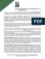 Acuerdo de Responsabilidad Civil Contractual