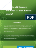 What is Difference between IIT JAM & GATE exam?