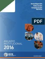 Anuario Institucional IECS Argentina - 2016 (castellano)