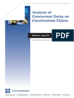 Long Intl Analysis of Concurrent Delay on Construction Claims