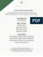 KF0 19 Job Advertisement