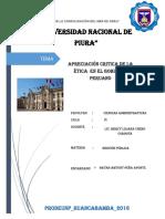 Etica en El Gobierno Peruano