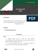 Copy of Simulado 01 Sem Comentarios Mpu Tecnico