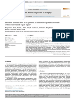 2016 Selective Nonoperative Management of Abdominal Gunshot Wounds J Am Surg