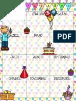 Calendario para primaria
