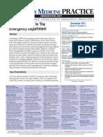 2011 Ballistic Injuries in the Er Departmente EB Medicine