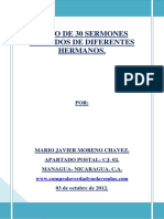 Libro de Sermones Variados de Diferentes Hermanos