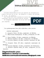 Canellada, María Josefa (1941)  Notas de entonación extremeña . Revista de Filología Española XXV