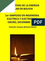 Perspectivas de La Energia Solar en Bolivia