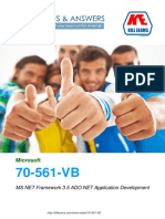 Pass4sure 70-561-VB MS.NET Framework 3.5 ADO.NET Application Development exam braindumps with real questions and practice software.