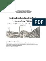 Institucionalidad nacional y la catástrofe de Chillán