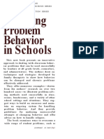 Changing Problema Behavior in Schools