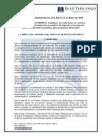 RO# 674 - Expidase Coeficientes Para Determinación Presuntiva Para Ejercicio Fiscal 2016 (21 Enero 2016)