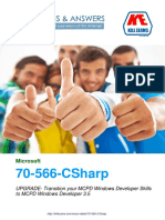 Pass4sure 70-566-CSharp UPGRADE- Transition your MCPD Windows Developer Skills to MCPD Windows Developer 3.5 exam braindumps with real questions and practice software.