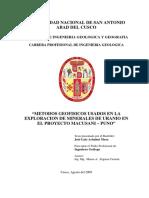 Tesis Metodos Geofisicos Usados en La Exploracion de Minerales de Uranio Proyecto Macusani - Puno1
