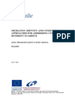 MIGRATION, IDENTITY AND CITIZENSHIP. APPROACHES FOR ADDRESSING CULTURAL DIVERSITY IN GREECE