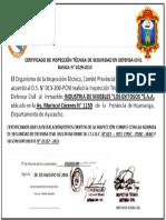 Certificado de Inspeccion