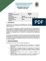 Fis200 Contenido y Bibliografia Uagrm