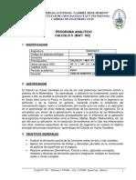 Mat102 Contenido y Bibliografia Uagrm