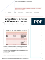 How to Calculate Materials for Different-ratio Concrete - Online Civil