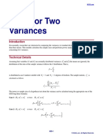 Tests for Two Variances