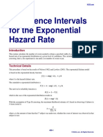 Confidence Intervals for the Exponential Hazard Rate