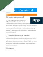 Hipertencion Arterial. Roxana