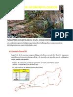 Parametros Geomorfologicos de Una Cuenca Hidrologica