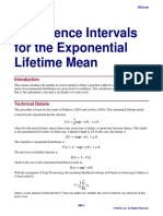 Confidence Intervals for the Exponential Lifetime Mean