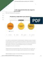 Levantamiento de Requerimientos de Negocio Para Customizar El ERP