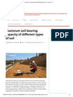 Maximum Soil Bearing Capacity of Different Types of Soil - Online Civil