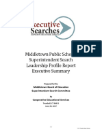 Middletown Superintendent of Schools Search Leadership Profile Report