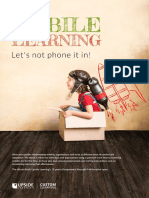 Upside Learning Mobile Learning Lets Not Phone It In