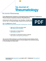 Allopurinol - Screening for HLA-B58-01 Cost Effective