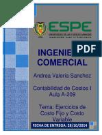Ejercicio de Costos - c.fijo y c.variable