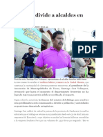 Minería Divide a Alcaldes en Tacna
