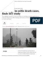 India Tops in Selfie Death Cases, Finds IIIT Study _ the Indian Express