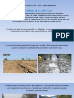 Influencia de Las Variables Climáticas y Meteorológica en Translados y Planes de Rodaje