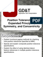 Lecture 9- Symmetry & Concentricity, Expanded Position Tolerancing
