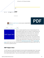 SAP Super User - SAP Training and Certification