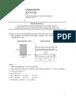 Lista I - Dimensionamento ELS e ELU