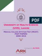 MCAT Uhs Past Paper (2008-2016)