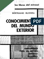 Russell, Bertrand - Conocimiento Del Mundo Exterior
